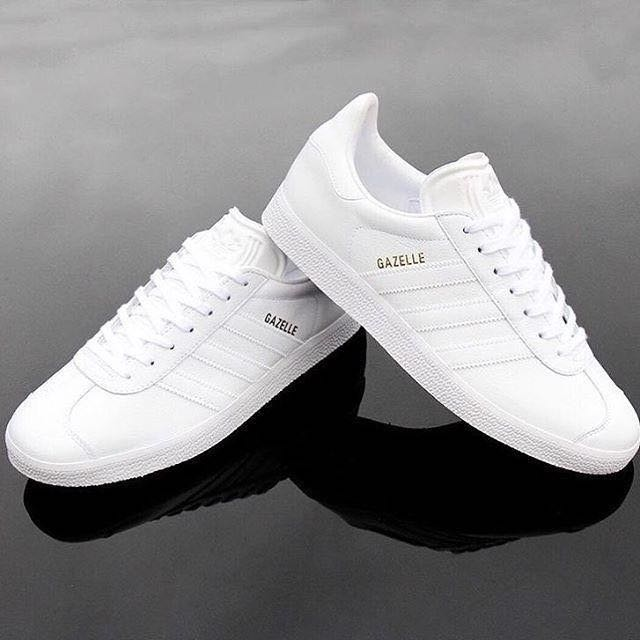 169492fb1a ADIDAS GAZELLE ALL-WHITE, Men's Fashion, Footwear, Sneakers on Carousell
