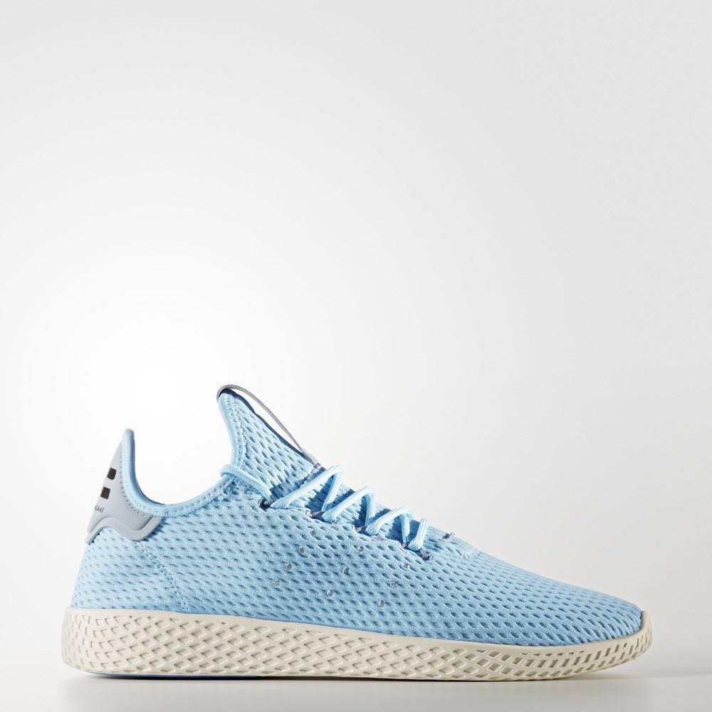 6f65c5c18 Adidas Originals Pharrell Williams Tennis Hu Shoes Men Blue Blue ...