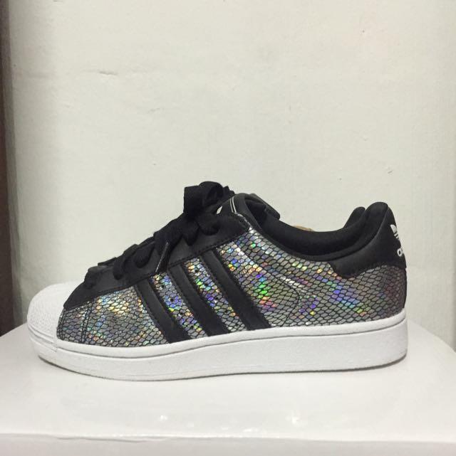 1741bf9a816af Adidas Superstar 2 Silver Snakeskin