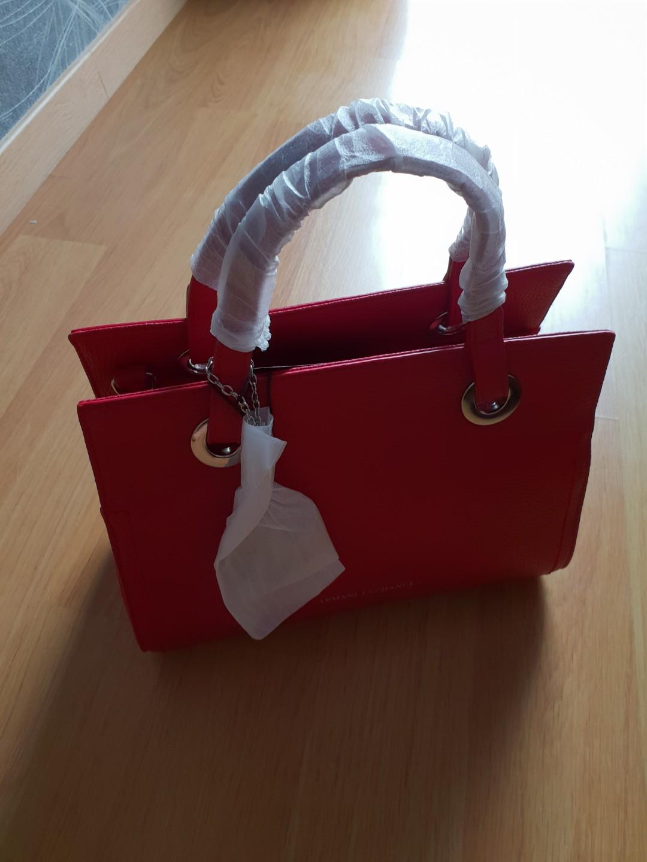 896674dfc61605 Armani Exchange Red Tote Bag, Women's Fashion, Bags & Wallets ...