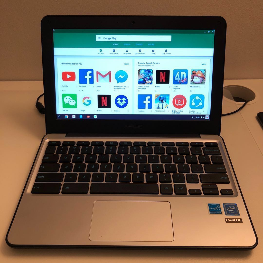 "Asus Chromebook C202SA-YS02 11 6"" Android app"