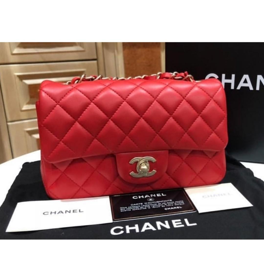 833b2cc1c0c1 Authentic Chanel Classic Mini Rectangle Flap Bag, Luxury, Bags ...