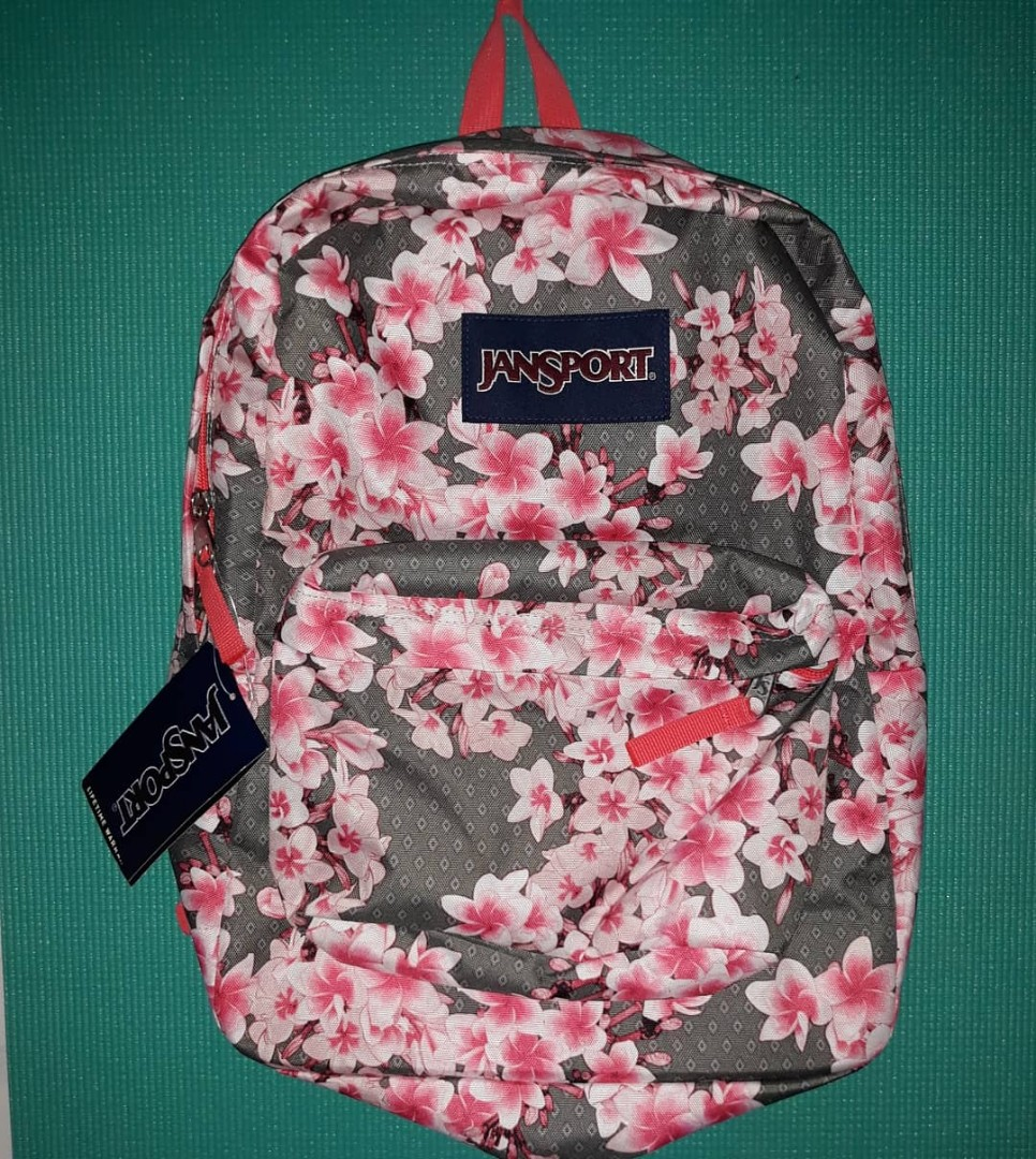 Authentic Jansport Backpack- Cherry Blossom Design with Warranty on