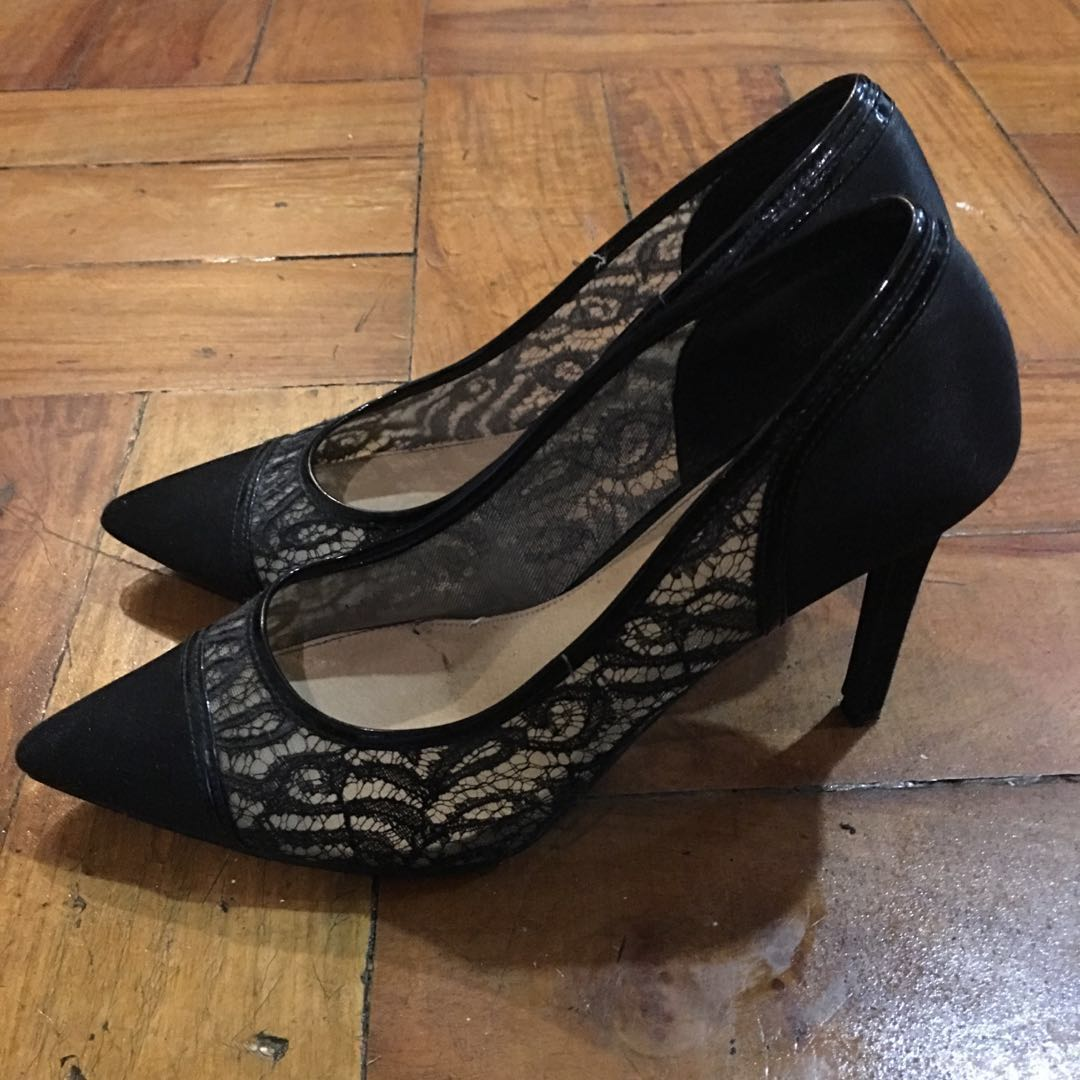 d828db084367 Black lace stilettos (formal)
