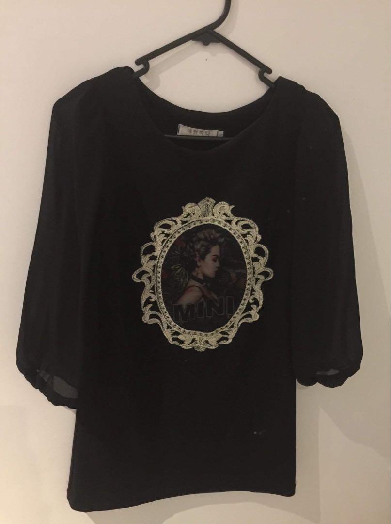 Black top korean style