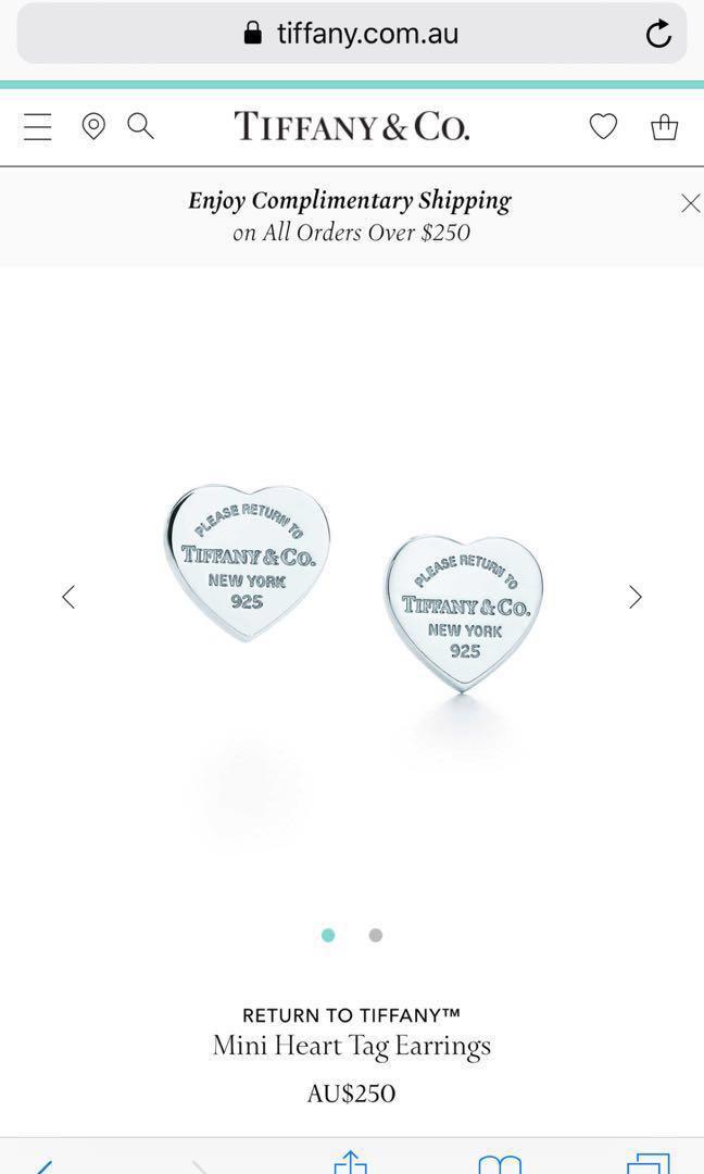 Brand new Tiffany iconic heart shape earrings