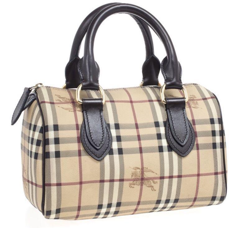 22abcb1815a3 Burberry Haymarket Check Medium Bowling Bag
