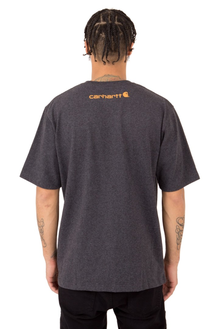 0421a1f965 Carhartt Workwear Word Logo Tshirt - Carbon Heather, Men's Fashion ...