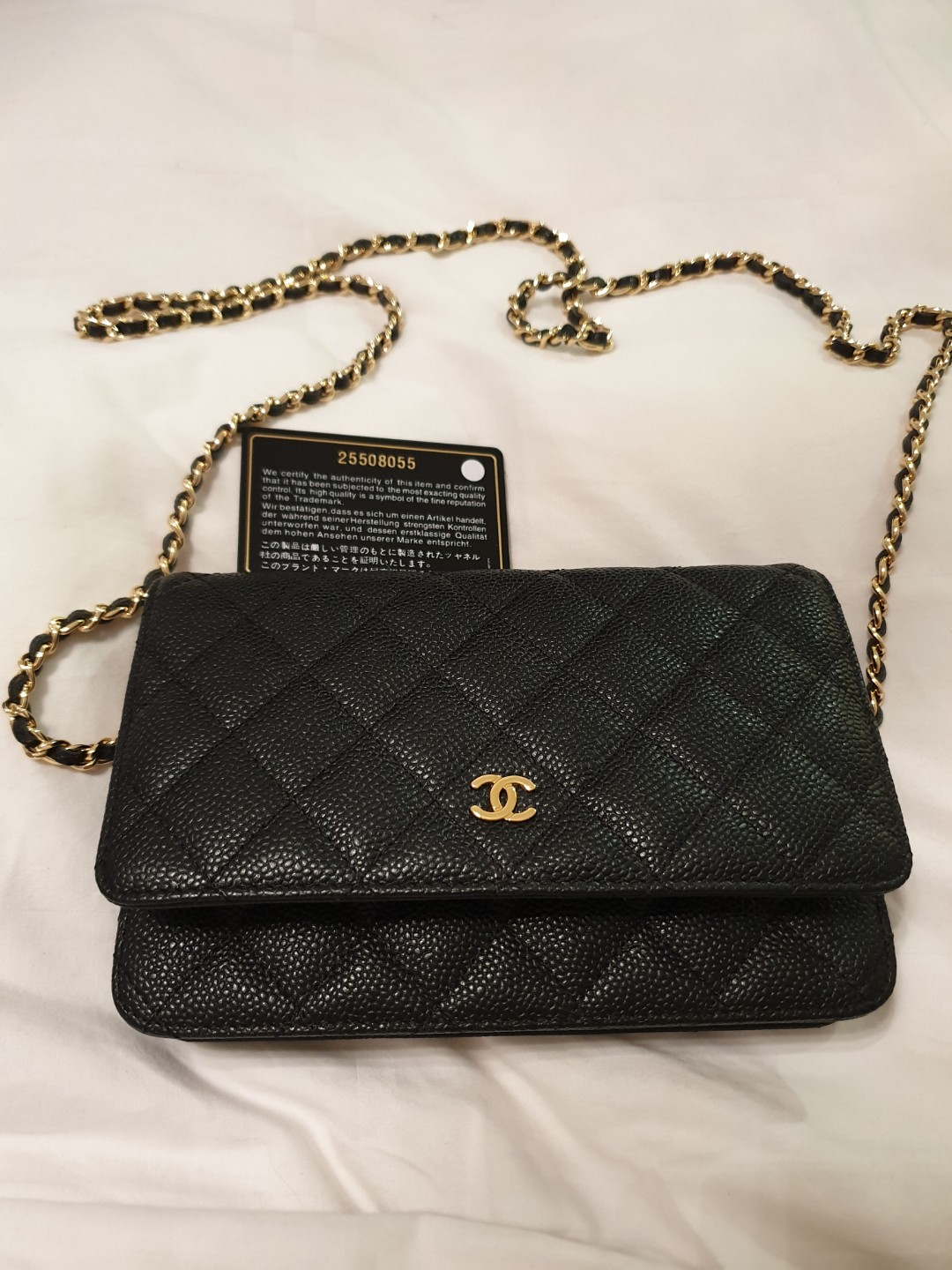 6986c83f7da7 Chanel WOC black caviar w gold hardware (Brand new), Luxury, Bags &  Wallets, Sling Bags on Carousell