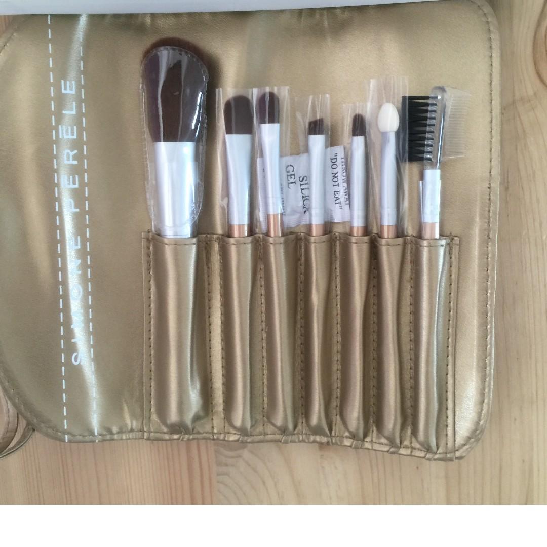 Cosmetics Brush Set, from Simone Perele, Golden traveller set