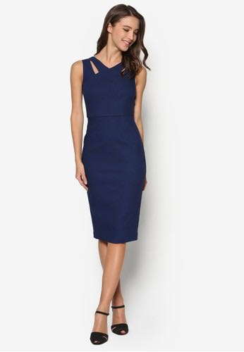 be9ca46ec7 Dorothy Perkins Peacoat Cut-out Pencil dress, Women's Fashion ...