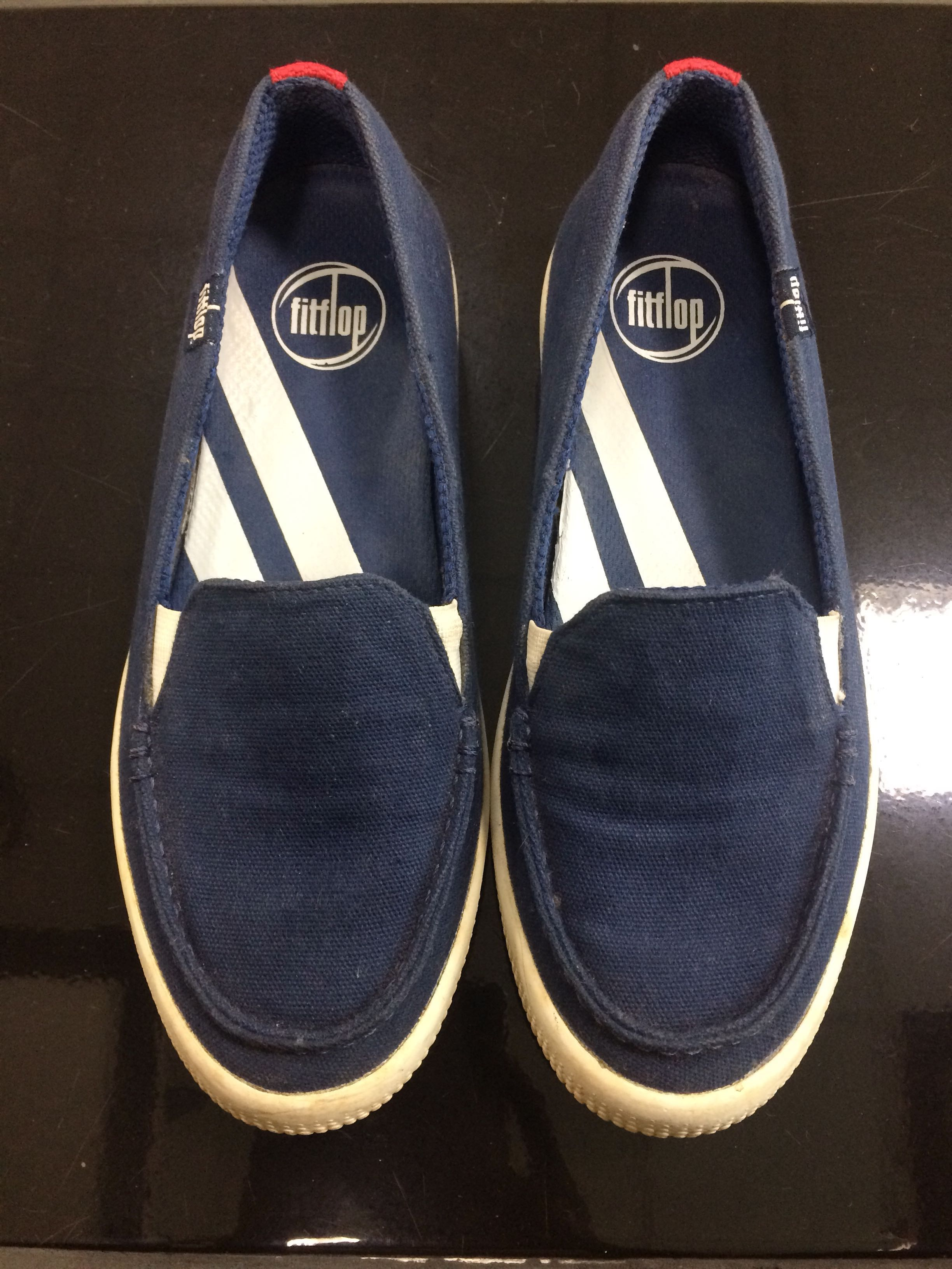 46c9d24f8b8c Fitflop Sunny in French Navy Canvas Loafers