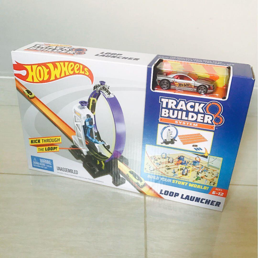 Hot Wheels Track Builder Exploding Shed /& Alien lanceur 3 Pack-crate Crash