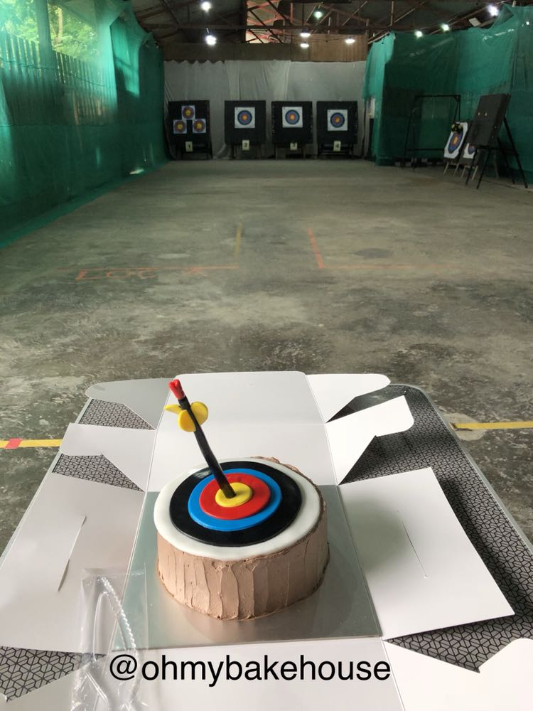 Halal Archery Target Board Cake Food Drinks Baked Goods On