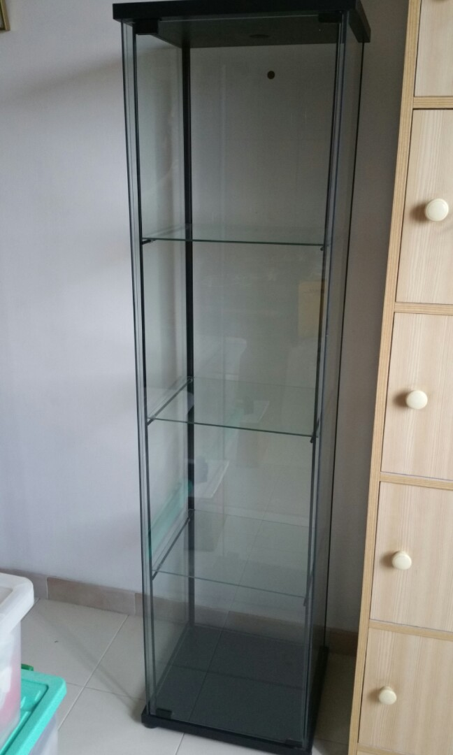 Ikea Glass Cabinet Furniture Shelves Drawers On Carousell