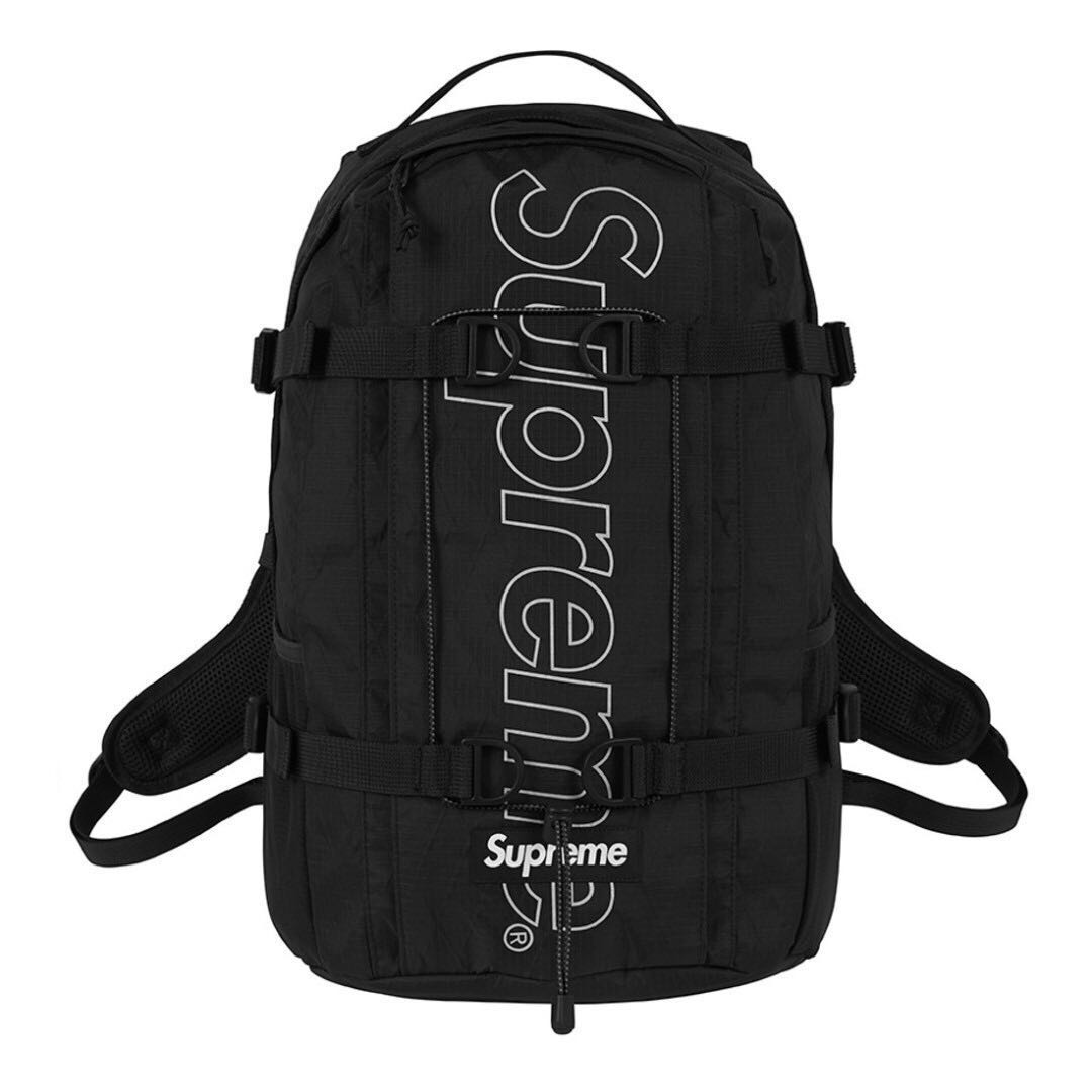 3232d3829805 IN STOCK  Supreme Backpack FW18 Black