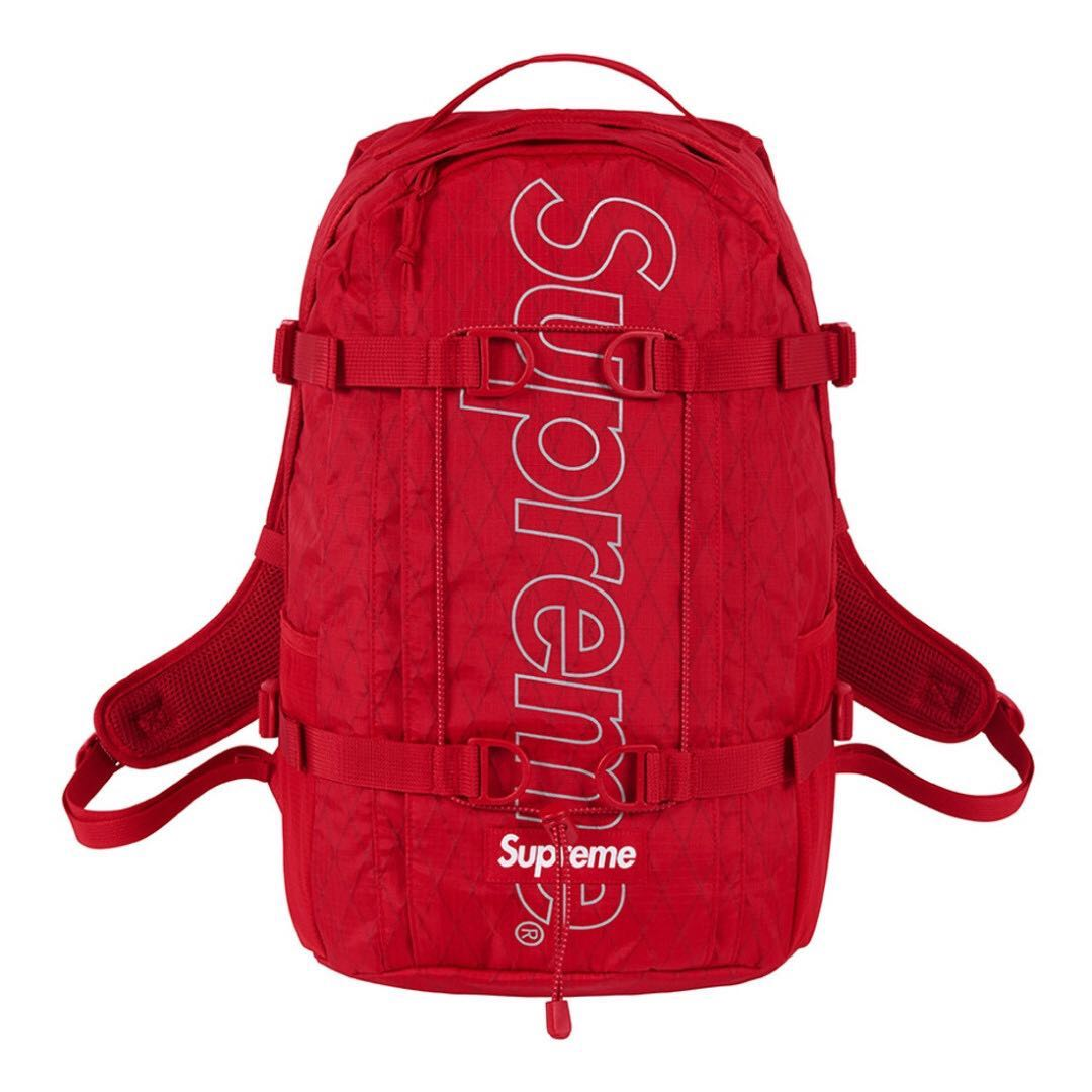 e8b95b4b7950 IN STOCK  Supreme Backpack FW18 Red