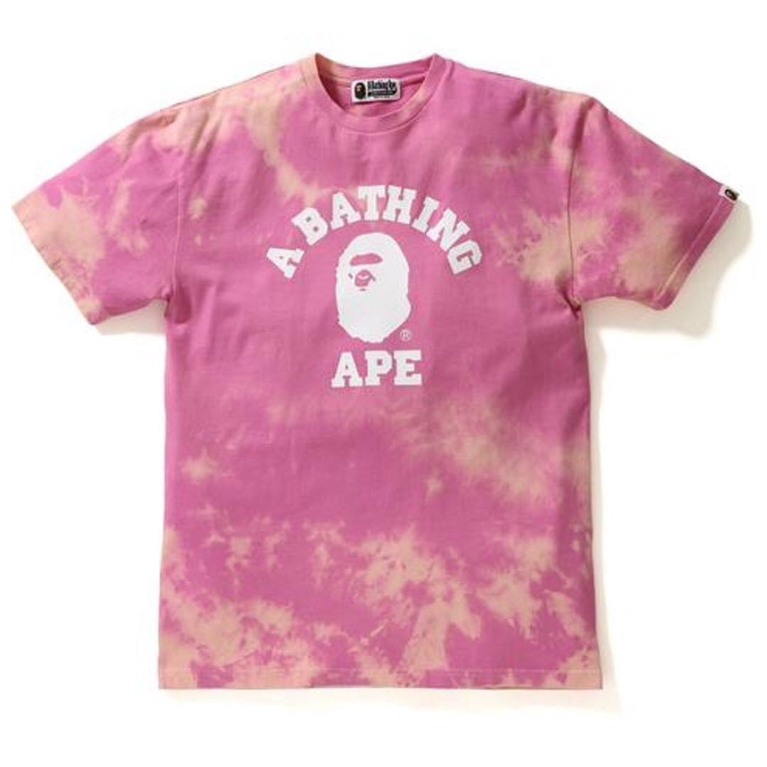 77094a6f FS] Bape College Tie Dye Tee, Women's Fashion, Clothes, Tops on ...