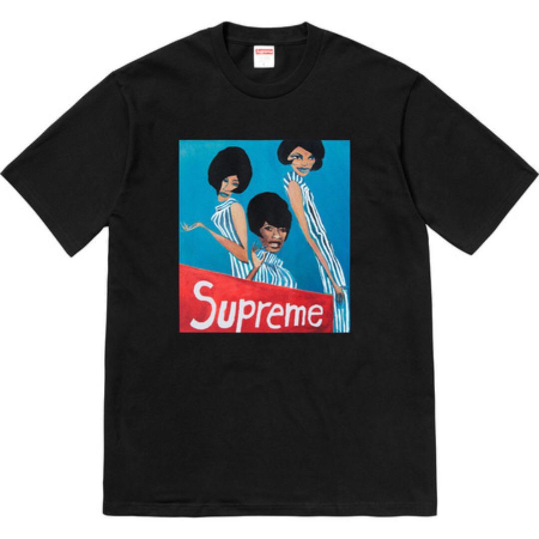 f5cfb9cf IN STOCK-LARGE] Supreme Group Tee Black, Men's Fashion, Clothes ...