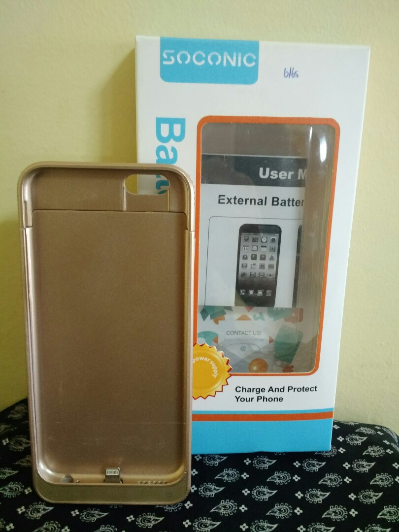 new product f62ec 20ecc iPhone 6 Battery Case Soconic 5800mAh Extended Charging Case