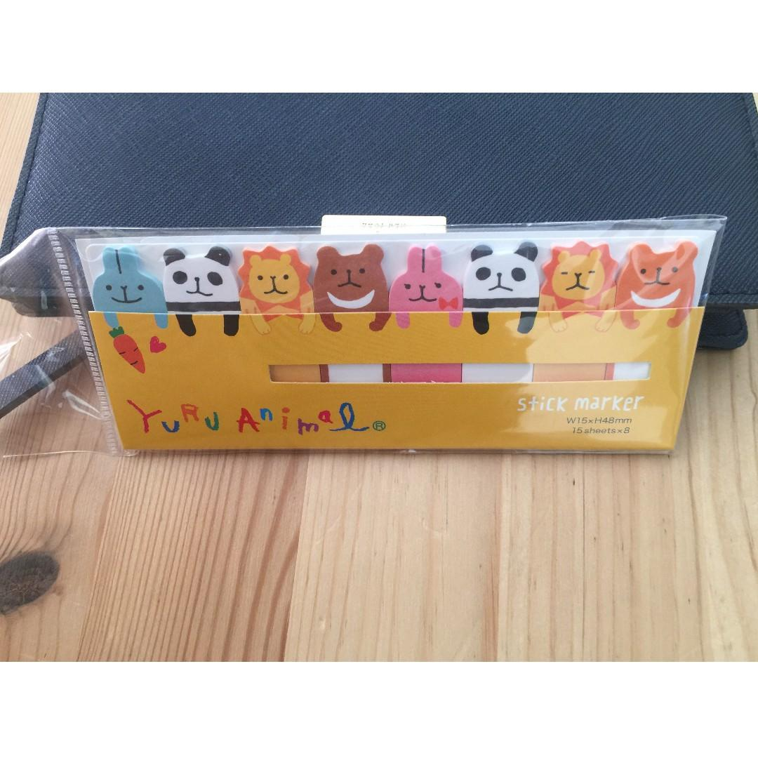 Japanese Stationery memo flags post-it bookmark x 2 sets & tape x 1