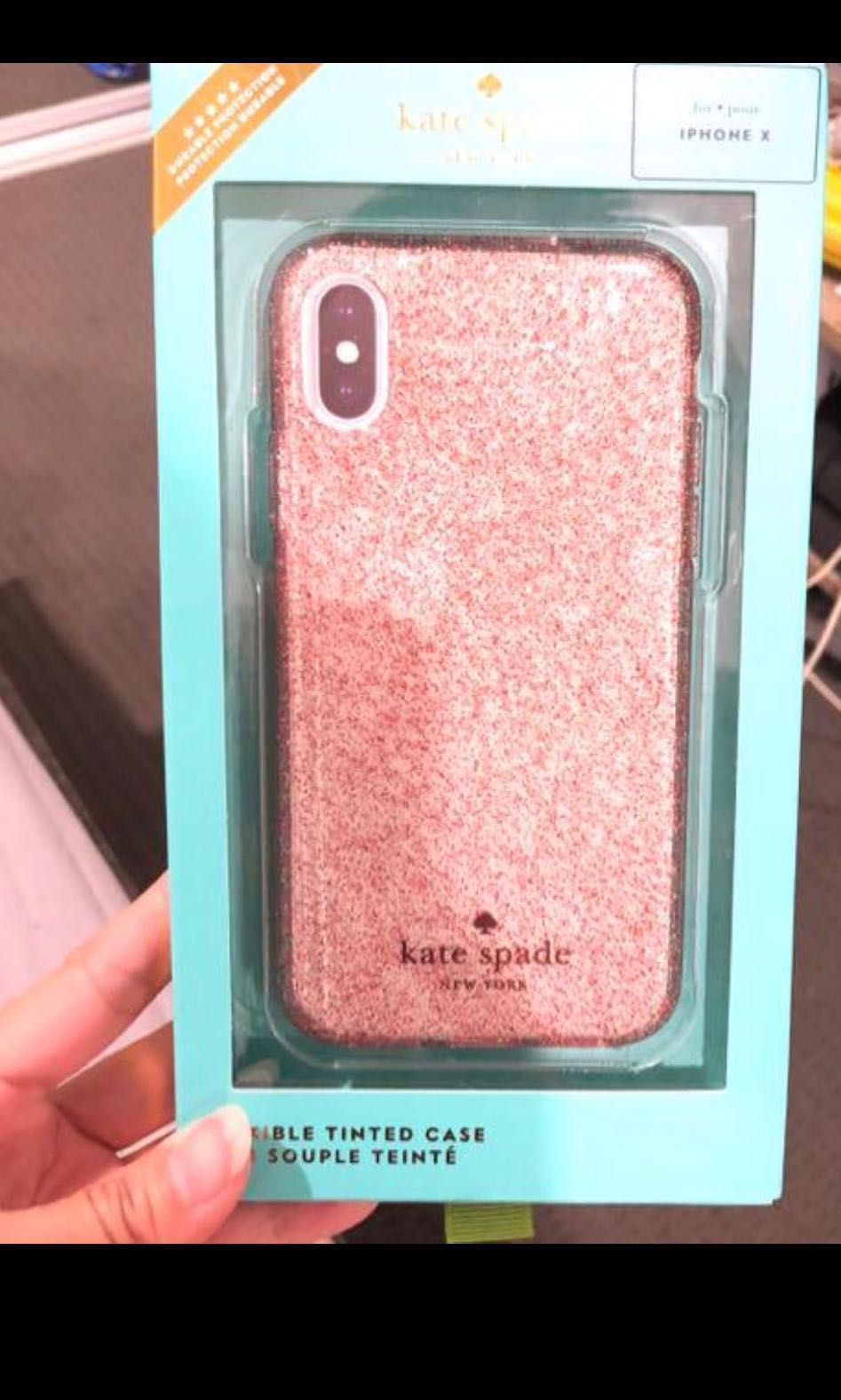 detailed look be4c1 f1f22 Kate spade iPhone X glitter case