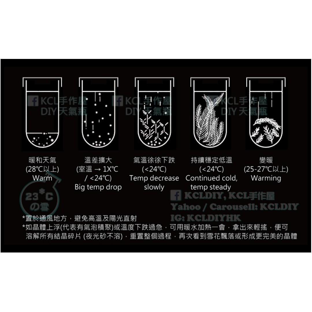 【KCLDIY】香港天氣瓶 23度の雪: 白蓋樽【聖誕節 情人節禮物】