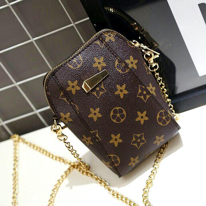 LV CHAIN SLING BAG, Women's Fashion, Bags & Wallets, Sling