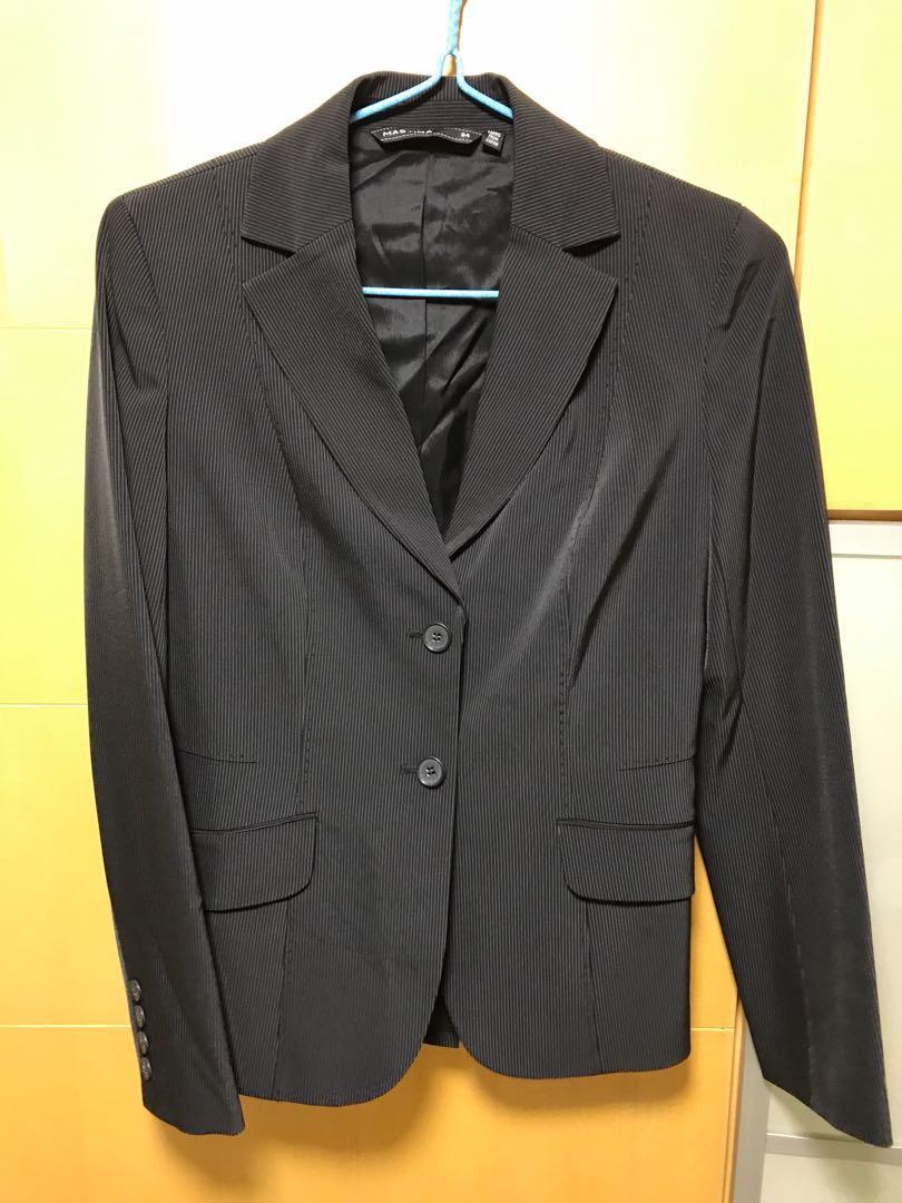 Mastina Womam Stripe Suit (Jacket & Skirt)
