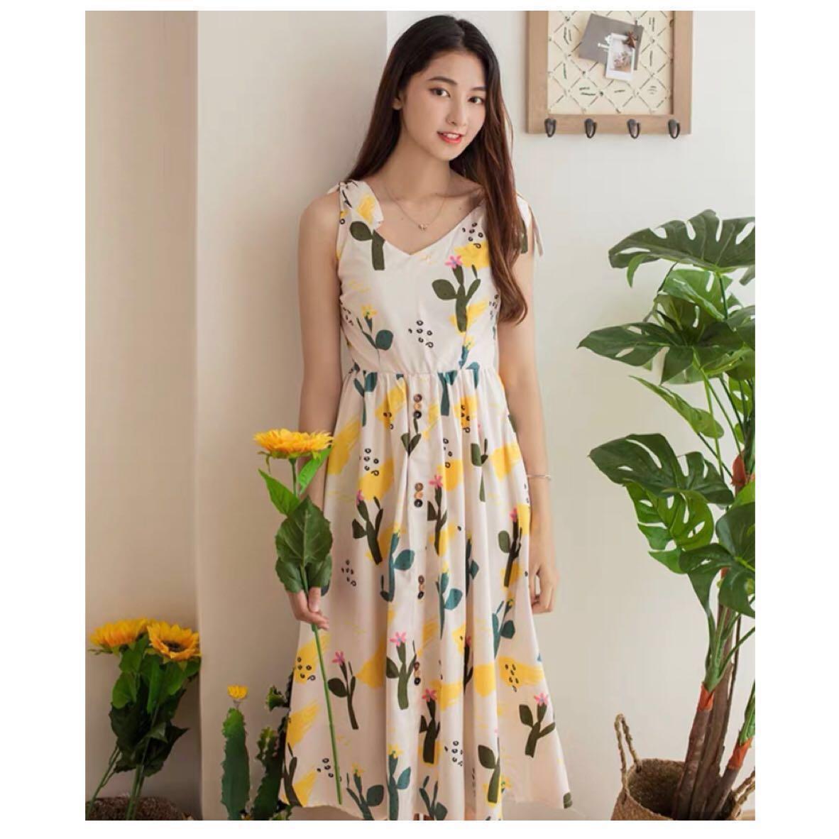 f65fd26ca740 🌷(PO) Cactus Print Amory Dress