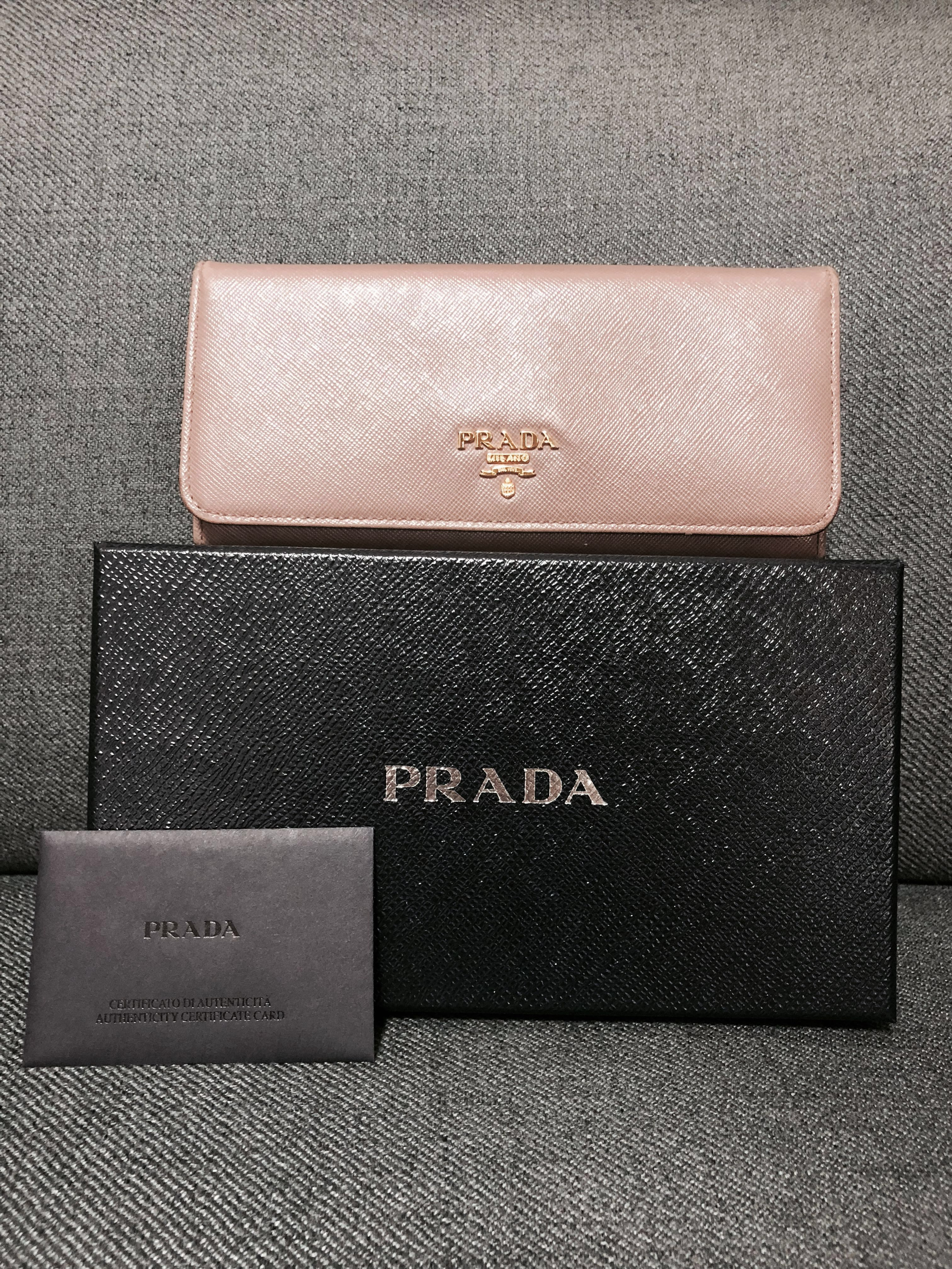 bcd7e45dfc92 ... discount code for prada 1m1132 saffiano leather long fold wallet luxury  bags wallets wallets on carousell