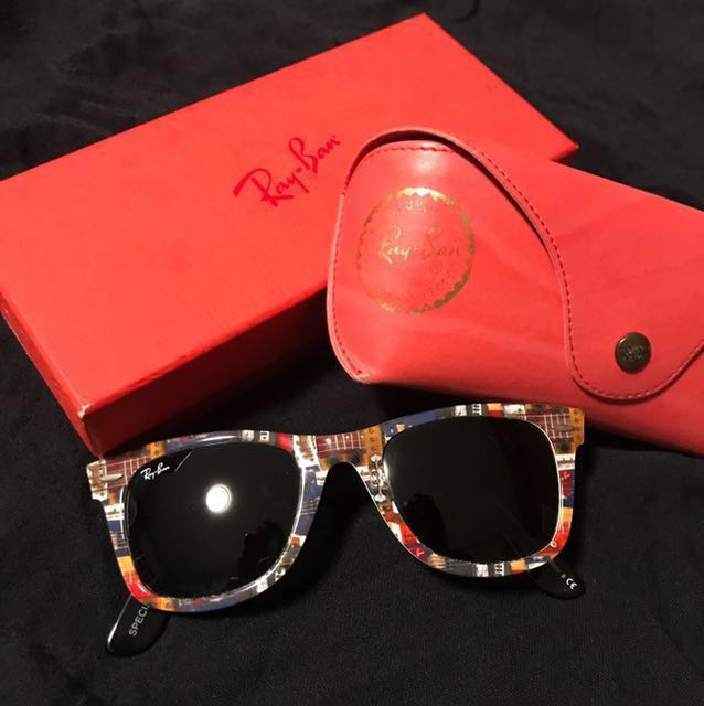 492ca3288c1 Ray Ban Wayfarer Sunglasses Limited Edition RB2140 1121