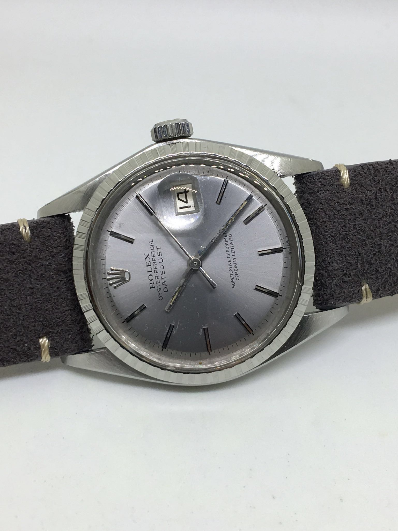 Sold Rolex 1603 Grey Colour Dial Oyster Perpetual Datejust Automatic