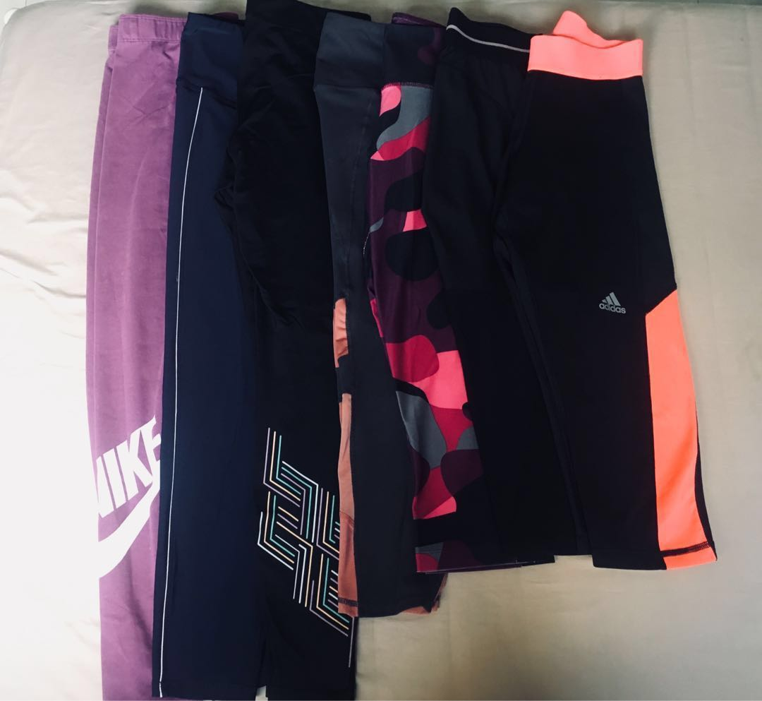 d0093267edc11 Sports Tights (Adidas, Nike, CO), Sports, Sports Apparel on Carousell