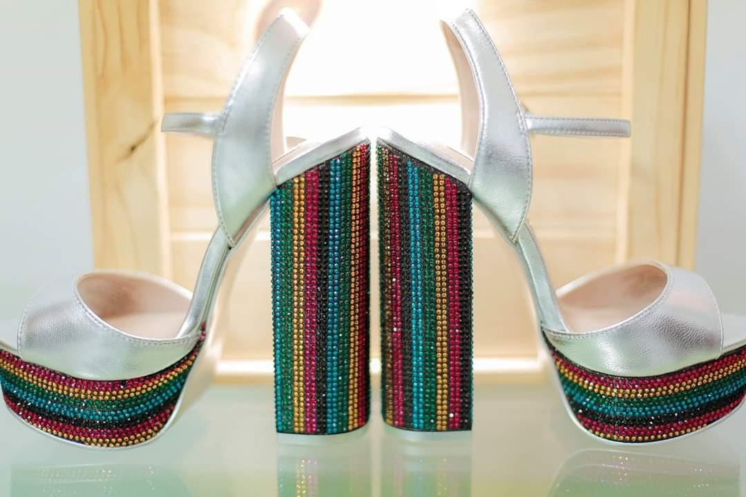 158df9ad4ff Steve madden rainbow block heels wedding platform