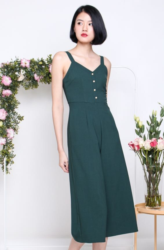 c03c7ee8b01 The Willow Label Rebecca Gold button Jumpsuit