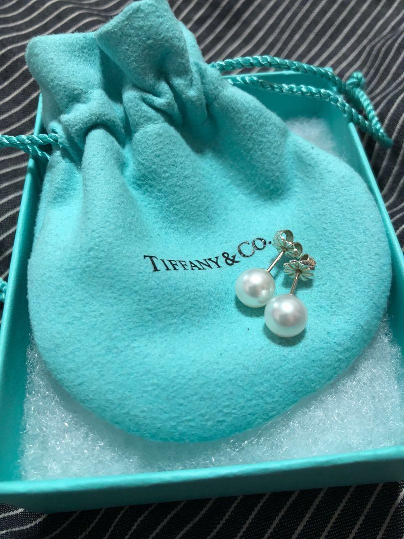 Tiffany and co pearl earrings