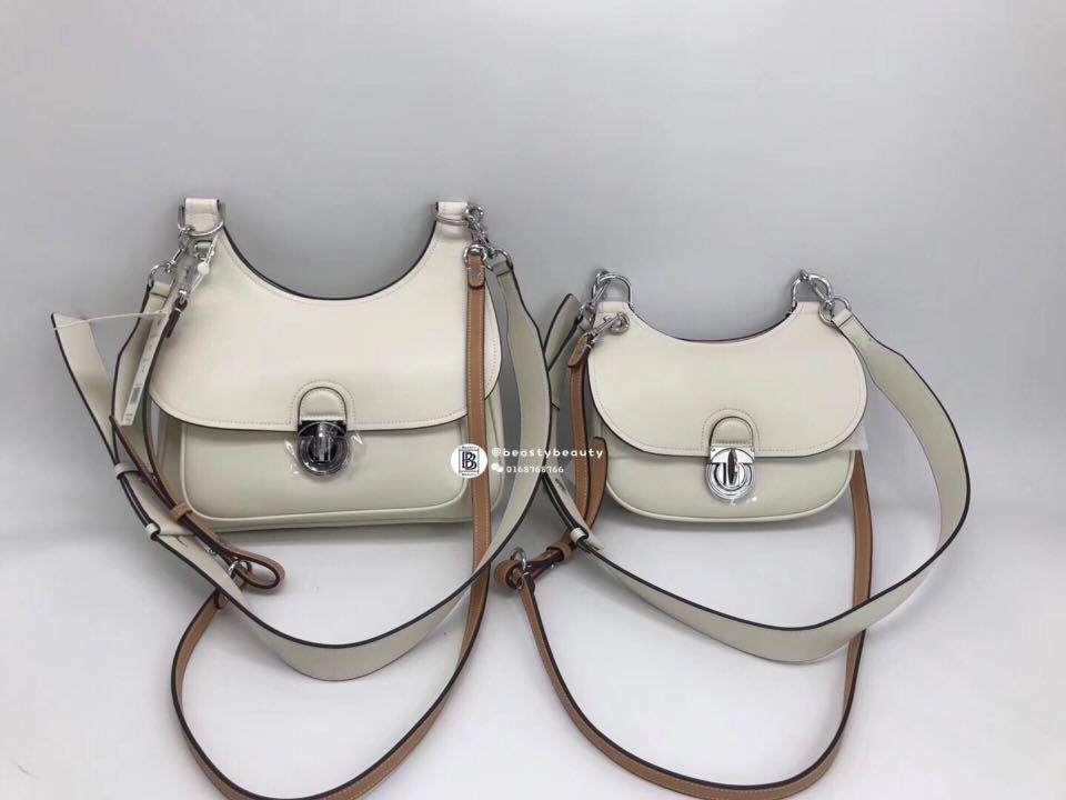 38112a95c134 Tory Burch James Saddle Bag - white