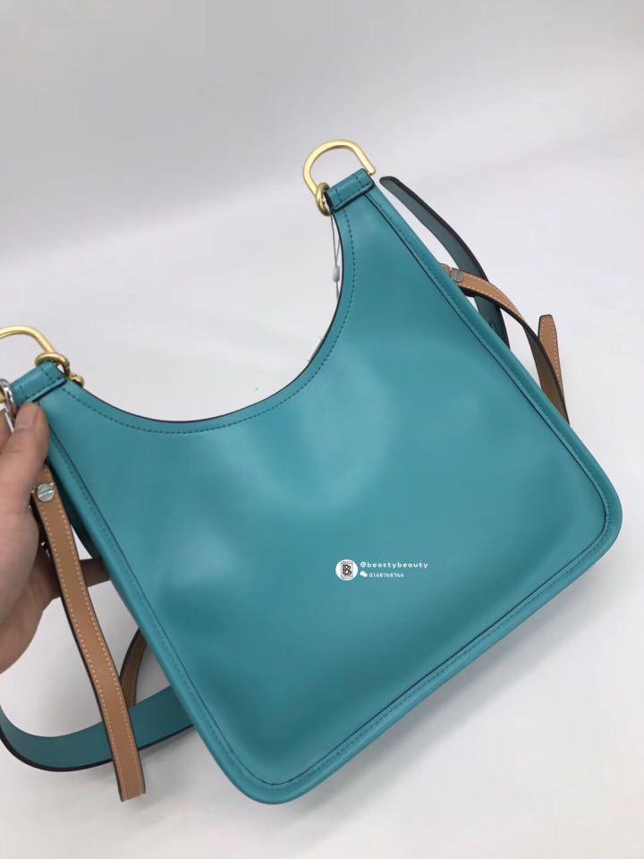 e61f6213922a Tory Burch James Small Saddle Bag - turquoise