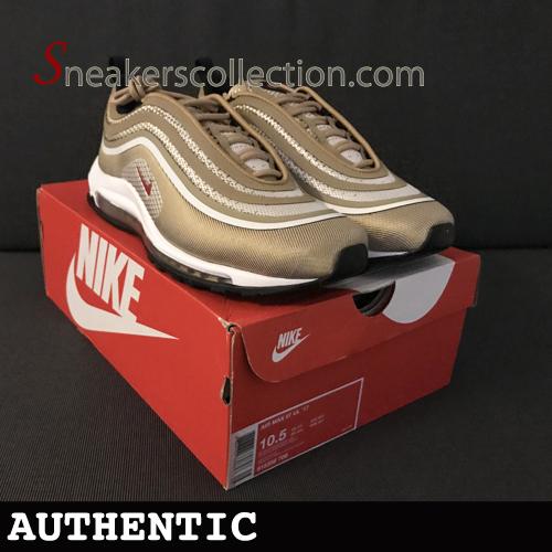 38542d309c6 UK9.5 Nike Air Max 97 Ultra Metallic Gold