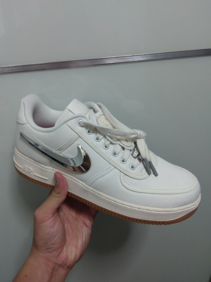 fd8822e2c23 US10 Nike Air Force 1 low Travis Scott Sail, Men's Fashion, Footwear ...