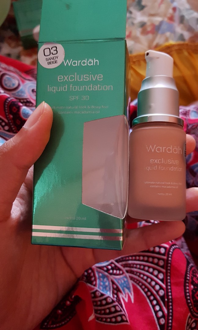 WARDAH EXCLUSIVE LIQUID FOUNDATION SHADE 03 SANDY BEIGE, Health & Beauty, Makeup on Carousell