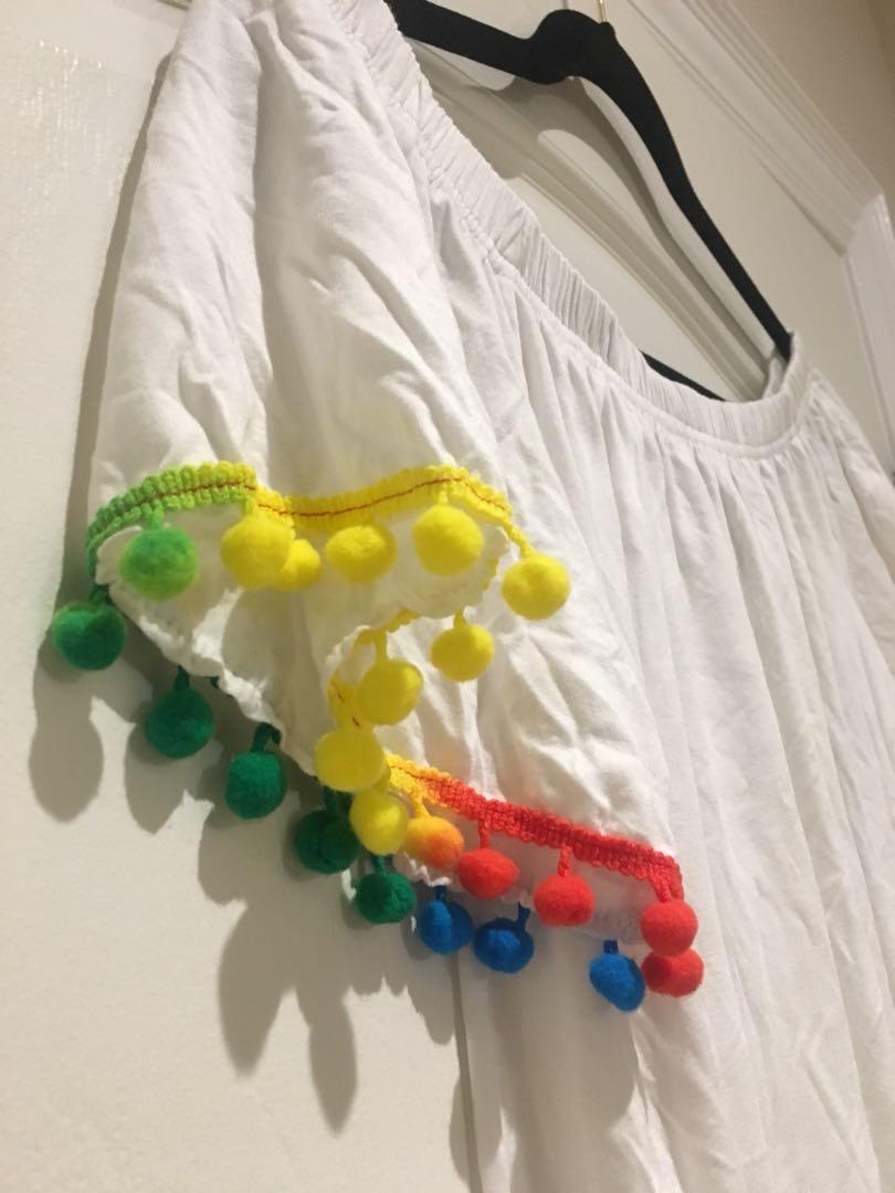 White POM Dress