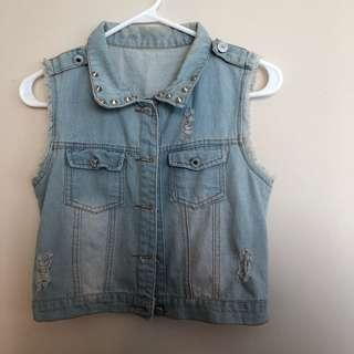 Denim vest jean jacket
