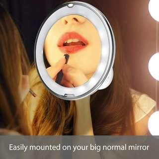 10X Strong Magnification LED Vanity Makeup Mirror