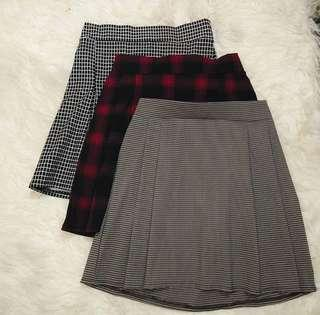 KOREAN VINTAGE INSPIRED PLAID SKIRT