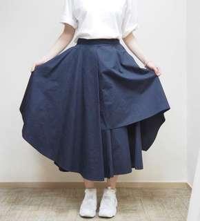 2littlebob黑色不規則裙褲