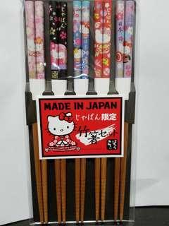 Hello Kitty 筷子 套裝一套五對 日本限定
