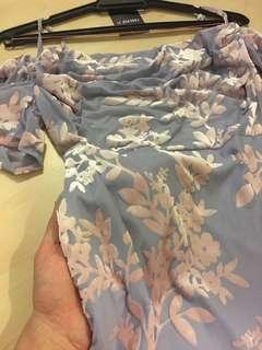 New ! FOREVER 21 off shoulder velvet dress