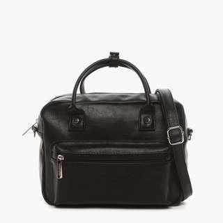Parisian Stylish Leather Boston Bag (Black)